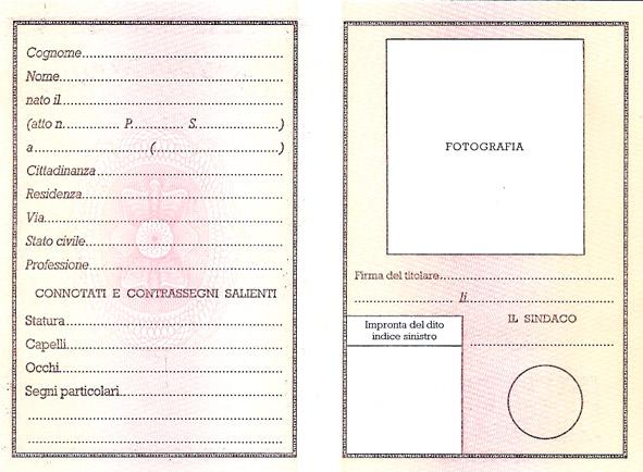 Carta d'identità