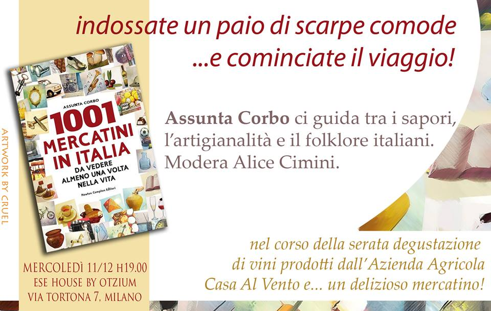 1001 mercatini in Italia da vedere  presentazione a Milano 7b65968f5dd