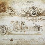 177. Leonardo da Vinci Studi di carri d'assalto falcati_1