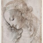 25. Leonardo da Vinci Testa femminile con sguardo verso il basso_1