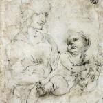 27. Leonardo da Vinci Studio per Madonna del gatto_1