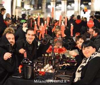 Cena in nero Galleria Milano 2014-19