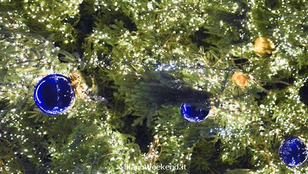 Albero Natale Duomo Milano dettaglio