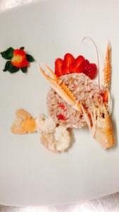 mama restaurant milano risotto scampi fragole