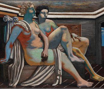 Giorgio de Chirico - Due figure mitologiche (Nus antiques, Composizione mitologica)