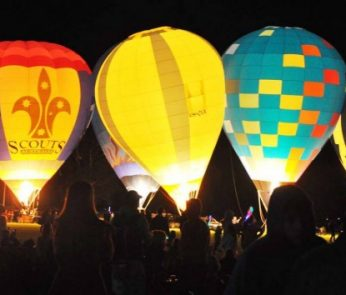mongolfiera parco night glow
