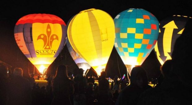 mongolfiera parco night glow