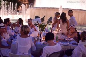 Cena in bianco Piazza Castello Milano 2015-11