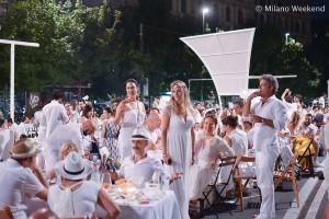 Cena in bianco Piazza Castello Milano 2015-13