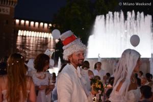 Cena in bianco Piazza Castello Milano 2015-14