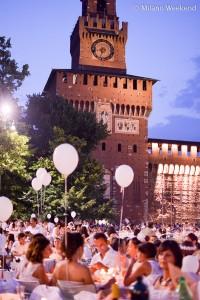 Cena in bianco Piazza Castello Milano 2015-9