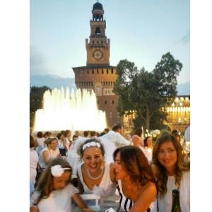 Cena in bianco Piazza Castello foto Marta Ascani (1)
