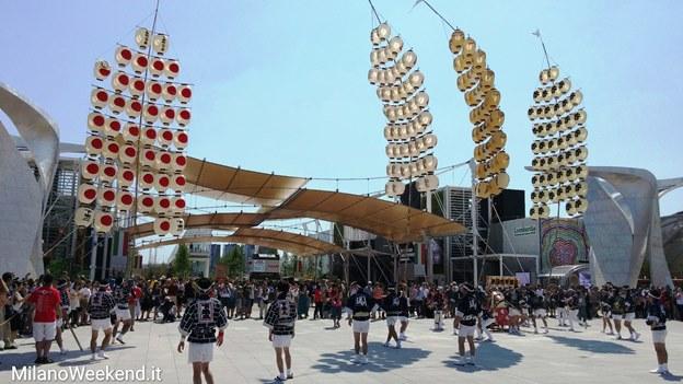 Parata Giappone Expo 2015 lanterne Akita