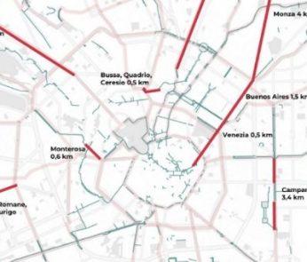 le nuove piste ciclabili a Milano nella fase 2