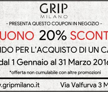 GRIP coupon negozi abbigliamento Milano
