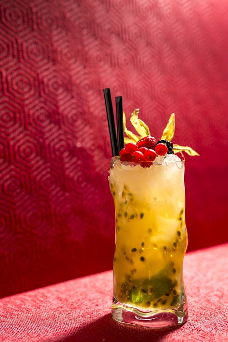Me Geisha Roma cocktail maracuja