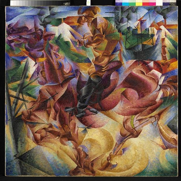 Umberto Boccioni , Elasticita, 1912 coll. Jucker