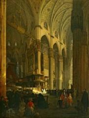Angelo Inganni - Interno del Duomo di Milano
