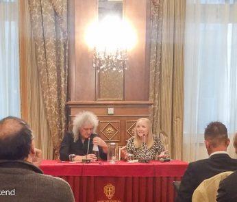 Brian May conferenza stampa Milano 2016