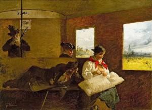 Gerolamo Induno - Carrozzone delle Ferrovie Nord
