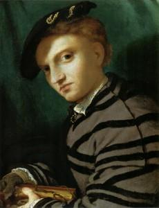 Lorenzo Lotto - Ritratto di giovane con libro