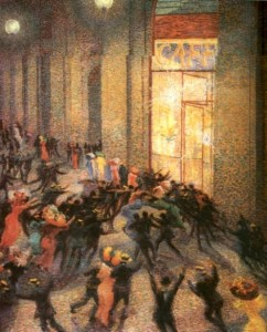 Umberto Boccioni - Rissa in galleria