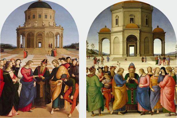 Pinacoteca-Brera-Raffaello-Perugino-Sposalizio-della-Vergine