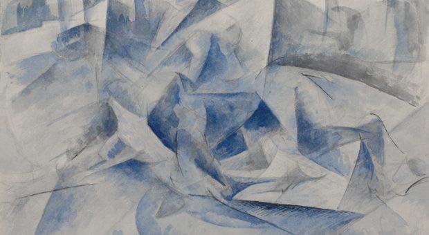 Umberto Boccioni, Cavallo cavaliere case, 1914