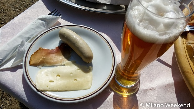 Val Senales bratwurst birra