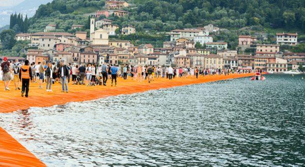 Floating Piers alba Milano Weekend