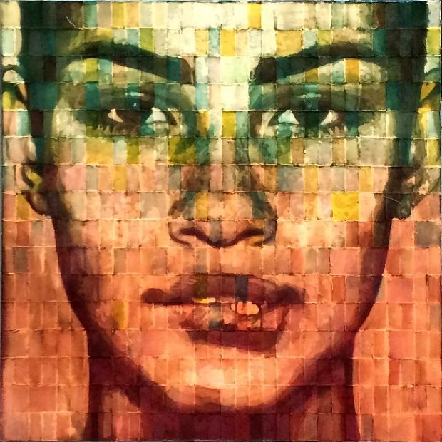 PALMA ARTE_Gian Piero Gasparini_Carly_2016_tessuto su tela_cm 100 x 100_3750 €