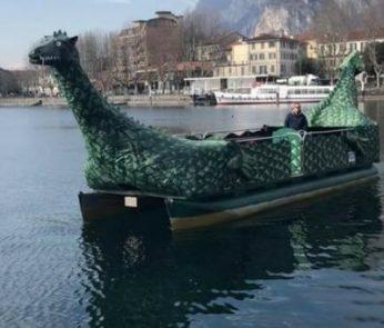 lecco lago lariosauro