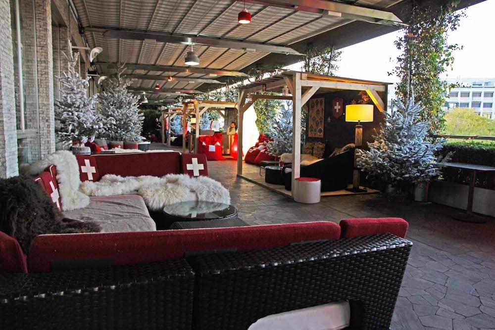 Swiss Winter Lounge Un Angolo Di Svizzera Alla Terrazza