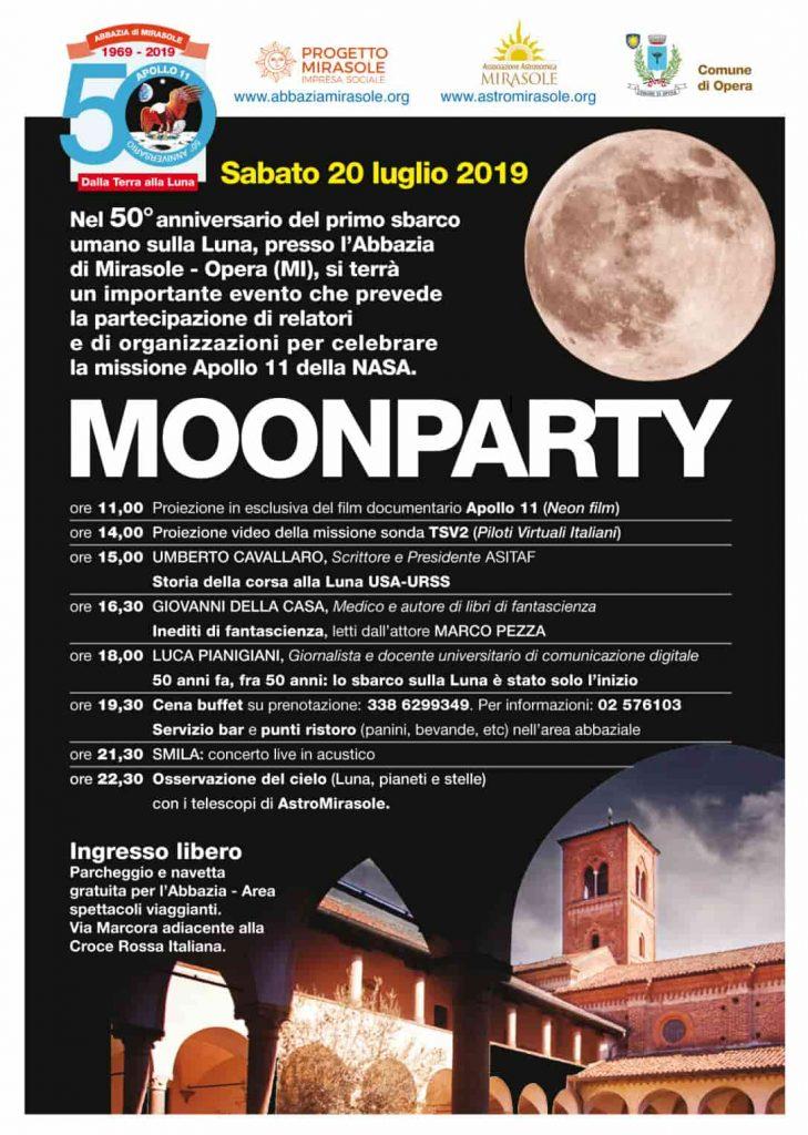 moon party abbazia mirasole programma