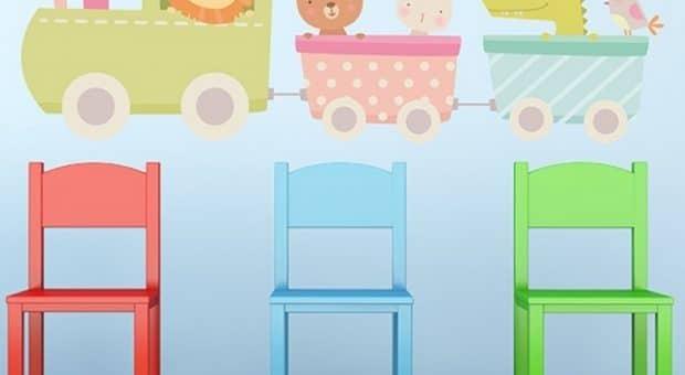 adesivi-murali-per-bambini-treno-degli-animali